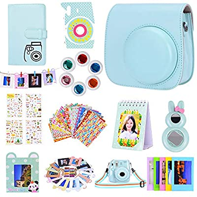 Bsuuy Instax Mini 9 Camera Accessories for FujiFilm Instax Mini 9 8 8+ Camera with Mini 9 Case/Album/Selfie Lens/Filters/Wall Hang Frames/Camera Sticker/Shoulder Strap from Bsuuy