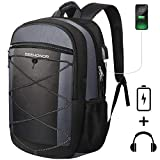 Laptop Backpack, SEEHONOR Travel Laptop Backpack with USB Charging Port, 15.6 Inch Slim Business Computer Backpack for Men Women Water Resistant Anti Theft College Bookbag School Bag