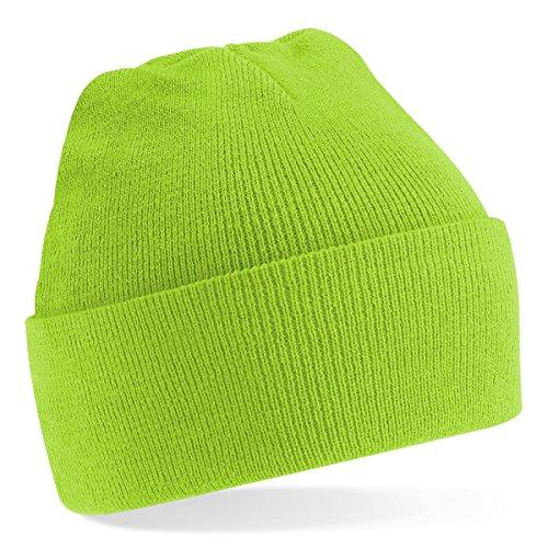 Beechfield, Acryl-Strickmütze für Erwachsene, zum Aufschlagen, Unisex Gr. Einheitsgröße, lindgrün