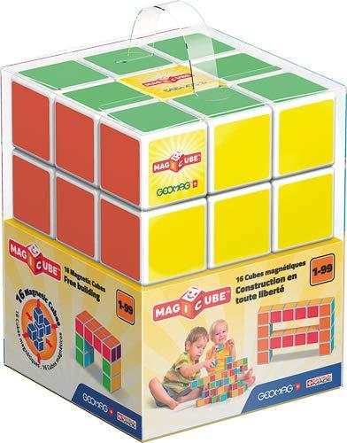 Geomag- Free Building Gioco di Costruzione con Cubetti Magnetici, Multicolore, 16 Cubes, 126