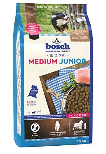 bosch HPC Medium Junior   Hundetrockenfutter zur Aufzucht mittelgroßer Rassen, 5 x 1 kg