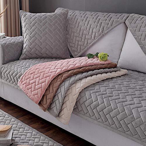 Ginsenget Funda sofá Microfibra - Protector Antideslizante Muebles Mascotas niños,Toalla cálida y Antideslizante para Funda de sofá,Rosa,70X70cm