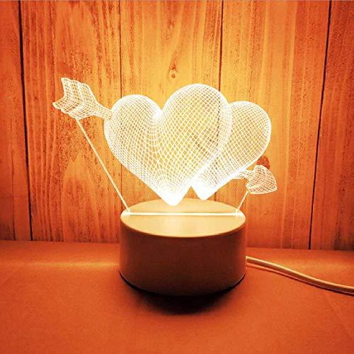 FENGZE Acrílico Las Luces De Neón Estéreo 3D Luz Nocturna Lámpara De Mesa Pequeña Lámpara De Mesilla Lámpara LED Festival De Cumpleaños Para Niños Decorar China Tipo de enchufe/Luna Oso Naves