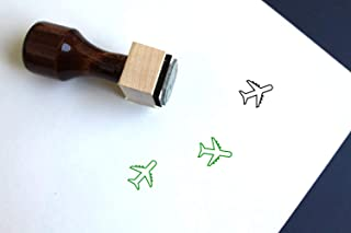 Rubber Stamp Shape great for Scrapbooking Crafts Card Making Ink Stamping Crafts Plane Airplane Arrival Departure Destination Style 16305