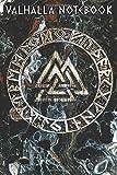 VALHALLA NOTEBOOK: Viking Valknut Viking Runes Acryl Style + College Line Ruled Urnes Style Notebook