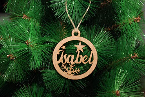DeNuevo Bolas de Navidad Personalizadas Fabricadas en Madera MDF de 3mm. Cuerda...
