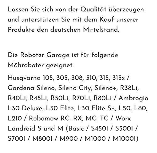 Mähroboter Garage mit Schrift nach Kundenwunsch in SCHWARZ MATT - Absolute Neuheit TEXT individuell für Sie angepasst - 4