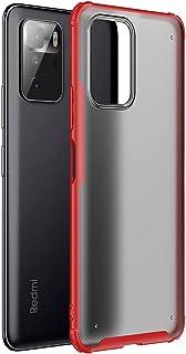 شاومي بوكو اكس 3 جى تى (Xiaomi Poco X3 GT) جراب خلفي مط مقاوم للصدمات - (احمر)