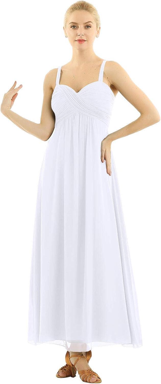 ACSUSS Women's Vintage Chiffon Floor Length Homecoming Evening Cocktail Bridesmaid Dresses
