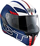AGV Casco Moto Compact St E2205 Multi PLK, Seattle Matt Blue/White/Red, XS