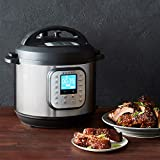 A pan of food on a table, with Slow Cooker