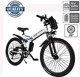 Hiriyt Vélo Electrique 26' E-Bike - VTT Pliant 36V 250W Batterie au Lithium de Grande Capacité - Ville léger Vélo de avec...