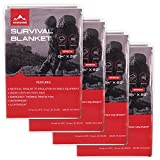 Rescue Guard Emergency Thermal Mylar Space Blanket: Designed for Outdoors, Hiking, Survival, Marathons Or First Aid - Solar Heat Reflective Blanket - Idael for Bug Out Bag, Car Survival Kit (5)