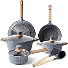 Pots and Pans Set - Non-stick Cookware Sets, Ceramic Nonstick Pots and Pans Set Frying Pans Stockpot and Saucepan Sets with Lid, Non Sticking Cooking Sets, 16 Pieces Induction Pot Set