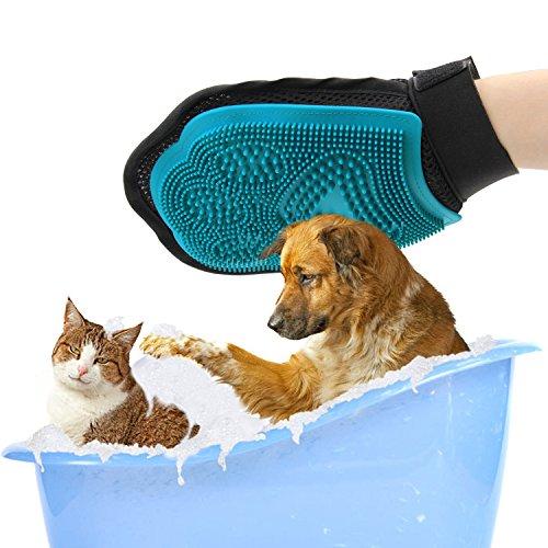 Poppypet 2-in-1 Hund und Katze Pflegen Pinsel Handschuh, blau