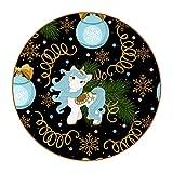 6 posavasos redondos antideslizantes para cocina, bar, restaurante, oficina, hogar, Navidad, unicornio, flores mágicos