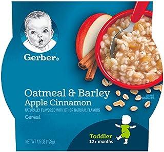 Gerber Oatmeal & Barley - Apple Cinnamon Cereal, 4.5-Ounce (Pack of 8)