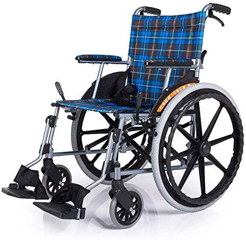Dljyy rolstoelen, 14 kg met eigen aandrijving, rolstoelen, draagbare vouwen, comfortabele armleuning, rugleuning, zitting 100 kg, load bearing, 42 x 40 cm, zitting, Medical Chair Fg/A