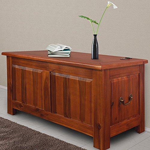 Deuba Baúl de madera maciza de acacia arcón de interior mueble ...