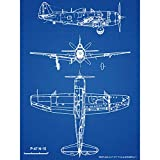Republic P-47 Thunderbolt Navy USA Fighter Plane Plan