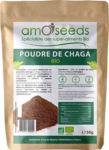 Poudre de Chaga Bio 50G | Tonifiant,...