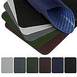 Naler 30 Pezzi di Patches per Vestiti Toppa Termoadesive di Tessitura Diagonale Toppa di Riparazione e Decorazione, 6 Colori, 12,5 x 9,5 CM