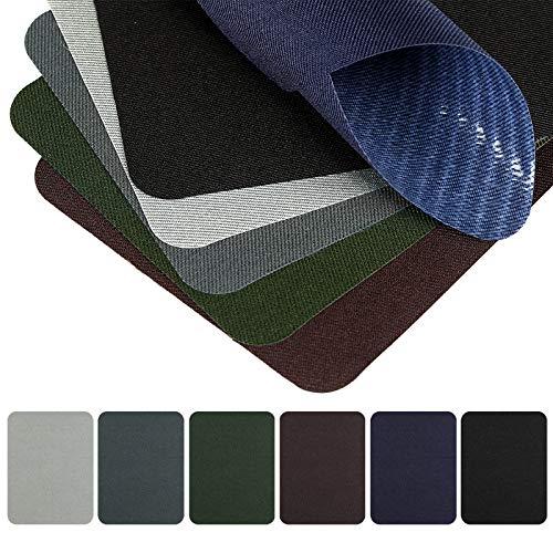 Naler 30 Parches Termoadhesivos Parches Tela Adhesivos para Ropa Planchar y Coser (6 Colores)