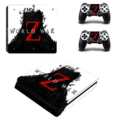 TSWEET Gioco World War Zombies Z PS4 Slim Skin Sticker Decal per Playstation 4 Console e Controller PS4 Slim Skins Stickers Vinile