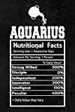 Aquarius Zodiac Sign Notebook Journal: Funny Horoscope Astrology Sarcastic Humor Journal Gag Gift For Teens, Students, Woman, Girls, Men, Boys, Kids, ... Lined Pages, 6 x 9, Soft Cover, Matte Finish