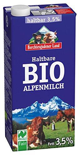 Berchtesgadener Land Bio Haltbare Bio-Alpenmilch 3.5% Fett, 1 l