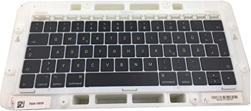 """OLVINS Juego de Tapas de Teclas de reemplazo GR Teclas de Teclas alemanas QWERTY para MacBook Pro Retina 13""""15 '' A1706 A1..."""