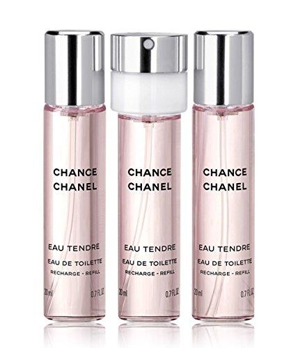 Chanel Chance Eau Tendre EdT 3 Recharges/Refills 3x 20ml für Taschenspray