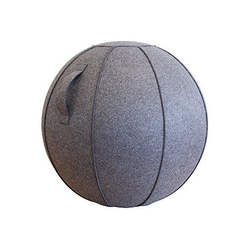 ショップジャパン バランスボール 65cm カバー付き チャコールグレー BLNCBAMC