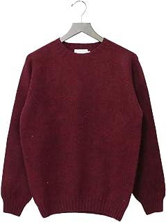 (インバーアラン) INVERALLAN『Crew Neck Sweater-Saddle』(Bordeau Mix)