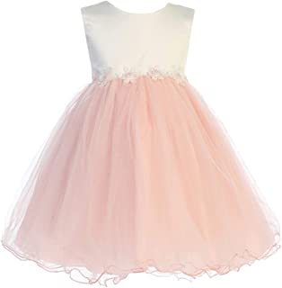 b19058d9eb4 iGirldress Baby Girls Tulle Dress Christening Baptism Party Formal Flower  Girl Dress 3 months-3T