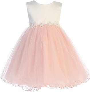 iGirldress 女婴薄纱连衣裙洗礼派对正式花童礼服 3 个月-3T