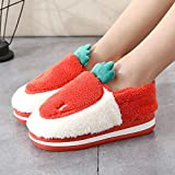 Cxypeng Slippers Unisex-Adulto,Pantuflas de algodón de tacón Alto con Suela Gruesa para Mujer, Felpa para calentar-39-40_A-Orange,Zapatillas De Casa Mujer Pantuflas De Luj