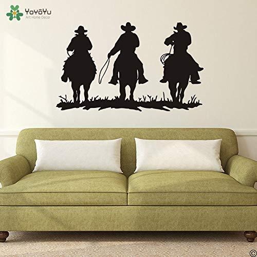 Fotobehang cowboy western quote paard sticker woonkamer slaapkamer vinyl poster waterdichte woondecoratie 42x70cm