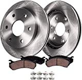Detroit Axle - Front Brakes Replacement Kit for 2008-2019 Sierra Silverado 1500, 2007-2019 Escalade, ESV, Tahoe, Yukon - Disc Rotor, Ceramic Brake Pad