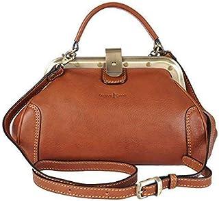 7e4bab575 Gianni Conti Fine Italian Small Leather Tan Gladstone Grab Shoulder Bag  913317