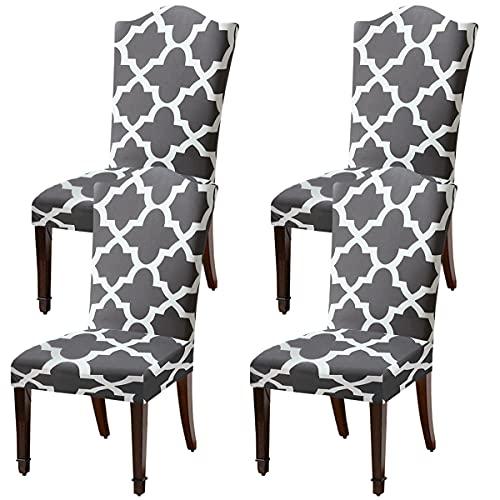 LANSHENG Fundas elásticas para sillas para sillas de Comedor, 2/4/6 Piezas Fundas Protectoras para sillas, Fundas elásticas Protectoras para Asientos (Multicolor-8,4 pcs)