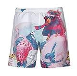 Huixin Pantalones Cortos Hombres Shorts Verano Hipster Estampado Anchos Casuales Beach Vacaciones Playa Surf Bañador Pantalon Corto
