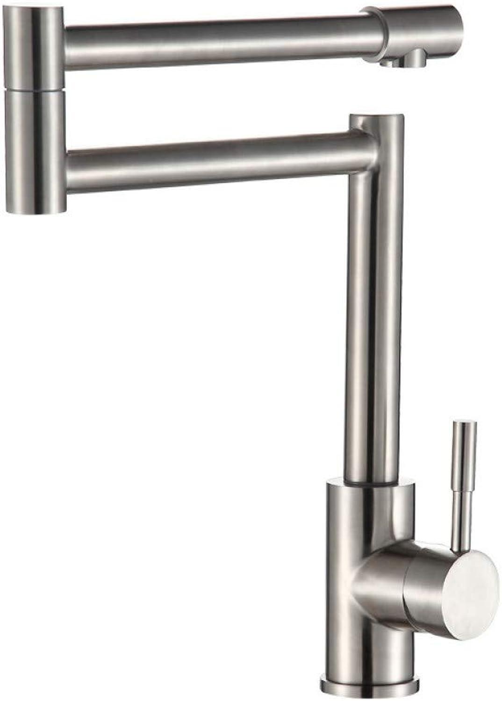 Küchenarmatur YHSGY 304 Edelstahl Wasserhahn Küche Warm Und Kalt Klapp Waschbecken über Aufsatzbecken Wasserhahn Drehbarer Wasserhahn