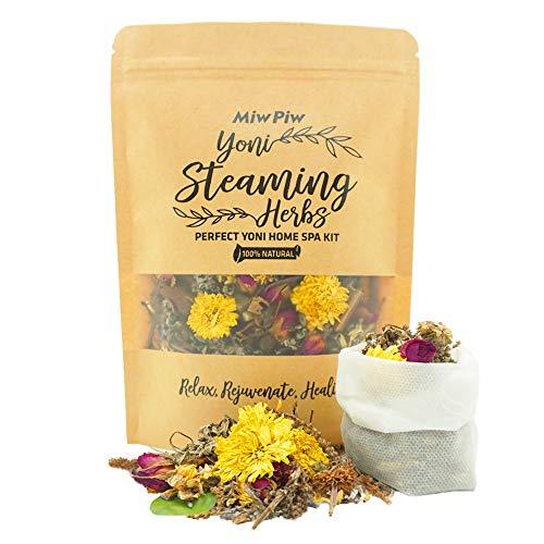 Miw Piw Yoni Steaming Herbs, 4-6 Steams, 100% Natural V Detox & Cleanse, Steam Seat Kit- Rejuvenate Heal