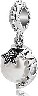 Q&Locket Mom Charm Dangle Star Corlorful Disco Ball Bead For Bracelet