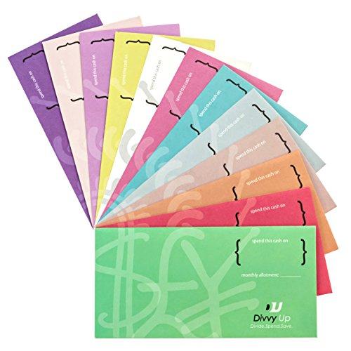 Divvy Up Budgetierung von Umschlägen für Ihr Geld 12 stilvolle Farben