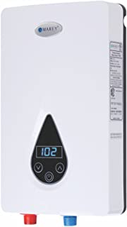 Marey ECO150 220V/240V-14.6kW Tankless Water Heater with Smart Technology, Small, White