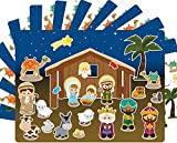 Nativity Stickers 12 Sets Make-A-Nativity Scene Sticker for Christmas Crafts School Supply VBS Classroom Activity