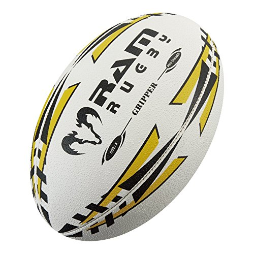 Ram Rugby Profi Training Rugbyball - 3D-Grip - Absolute top-Produkt Rugby bälle. Die nr. 1 in England (Gelb, 5)