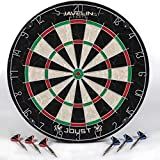 EastPoint Sports Joust Official Size Bristle Dartboard Set, Brazilian Self-Healing Sisal Fibers, Easy-to-Mount Board- perfect for family game room, basements, bar, man cave, or garage